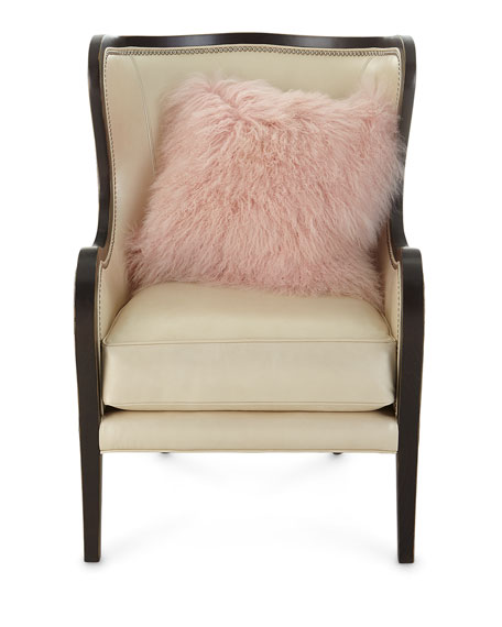 Jacqueline Leather Wing Chair