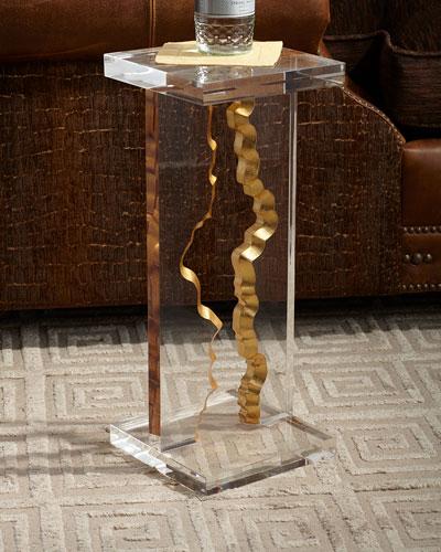 Gold Landscape Martini Table