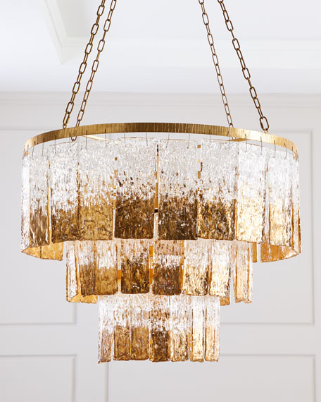 John-Richard Collection Twilight 16-Light Glass Chandelier