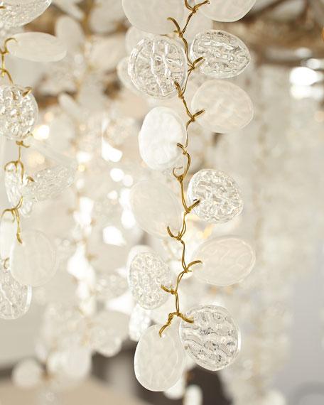 Shiro Noda 15-Light Glass Chandelier