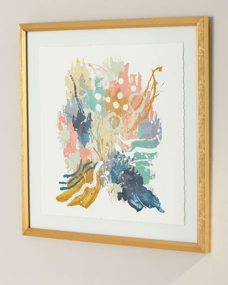 """Confectionary III"" Framed Watercolor Art by Jamie Hollis"