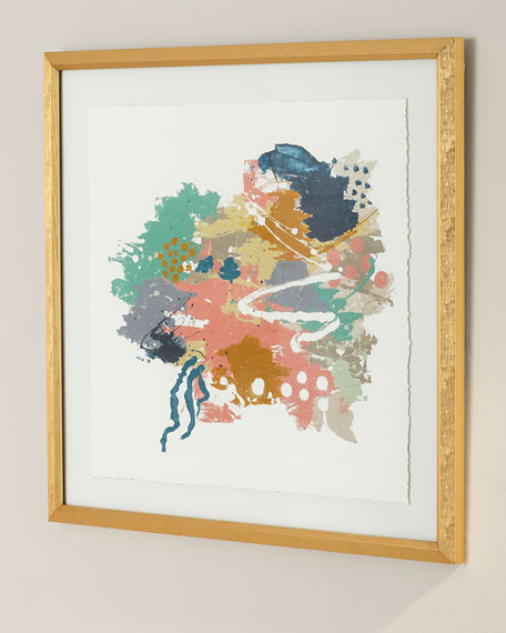 """Confectionary II"" Framed Watercolor Art by Jamie Hollis"