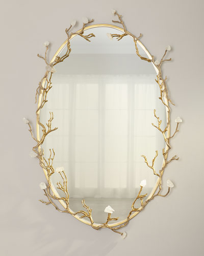 Oval Quartz Bud Mirror