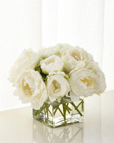 White Peony Floral Arrangement