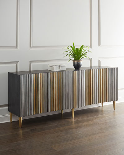 Aluminum Wrapped Entertainment Console