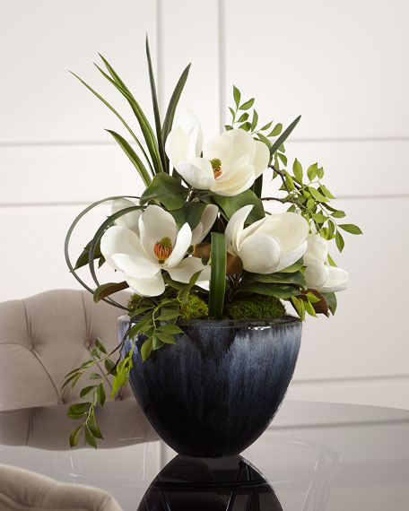 John-Richard Collection Grand Magnolia Floral Arrangement