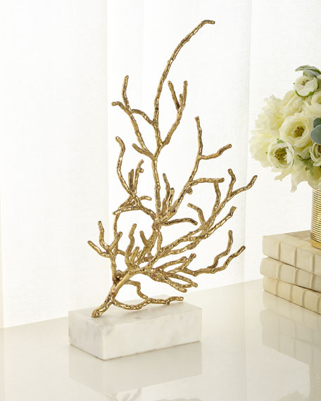Coral Sculpture In Brass