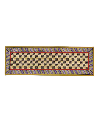 Courtly Check Runner  2'6 x 8'