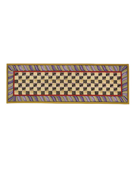 "Courtly Check Runner, 2'6"" x 8'"