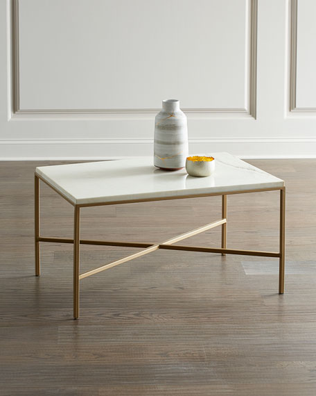 Marble Block Coffee Table