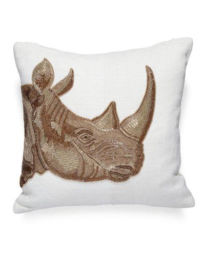 Botanist Rhino Pillow