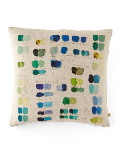 John Derian Mixed Tones Cobalt Pillow