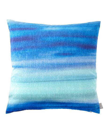 Blue Azure Gravity Mohair Pillow