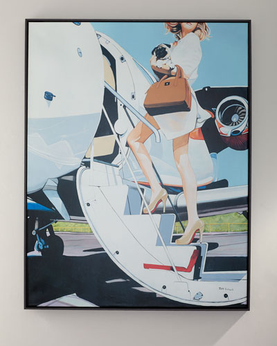 Jet Setter Giclee Canvas Art by Jeff Schaub