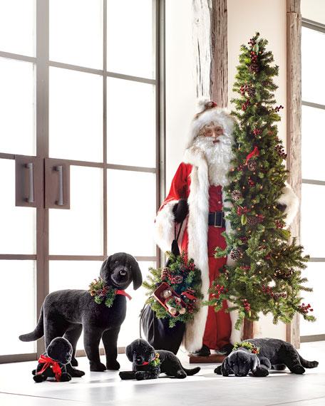 Christmas Black Lab Puppy