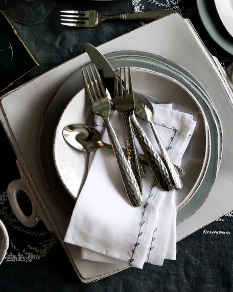 Lastra Salad Plate, Light Gray