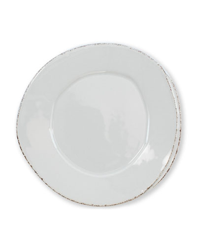 Lastra Salad Plate  Light Gray