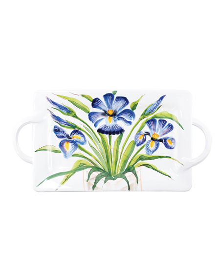 Wall Plates Iris Handled Rectangular Platter