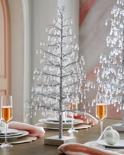 25 Clear Teardrop Beaded Tree