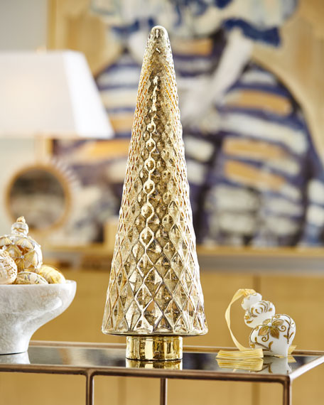 "23"" Gold Mercury Glass Tree"
