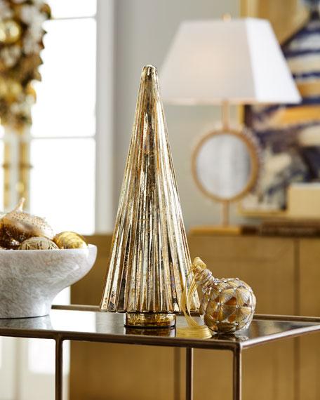 "18"" Gold Mercury Glass Tree"