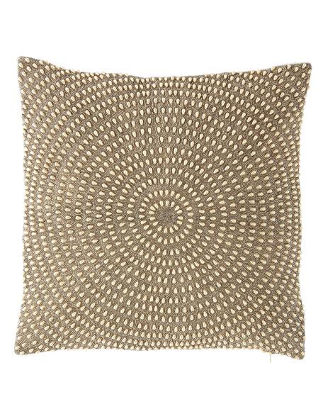 Sabrina Pearl Bead Embellished Pillow