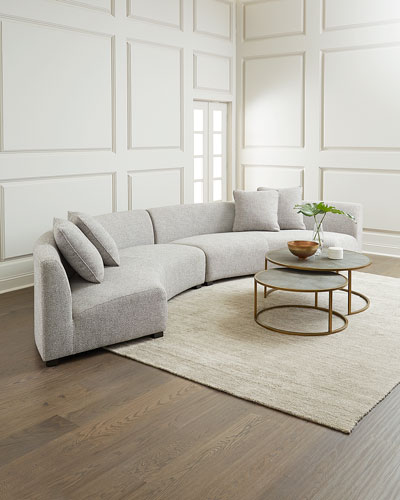 Belmount Gray Astor 2-Piece Curved Sectional