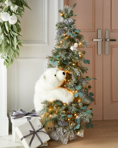 Crystal White Tree with Polar Bears
