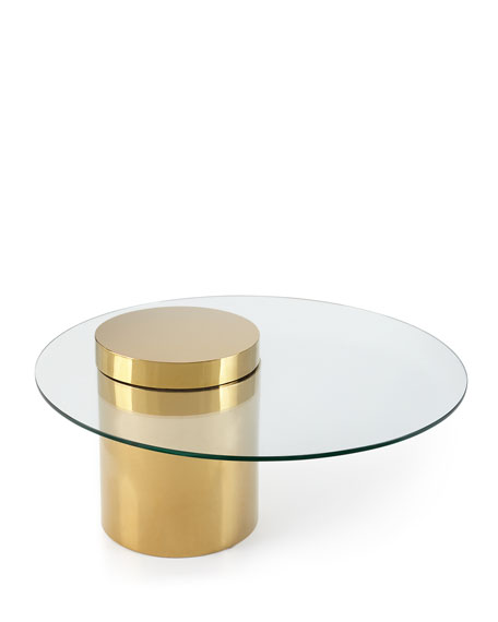 Odette Glass Top Coffee Table