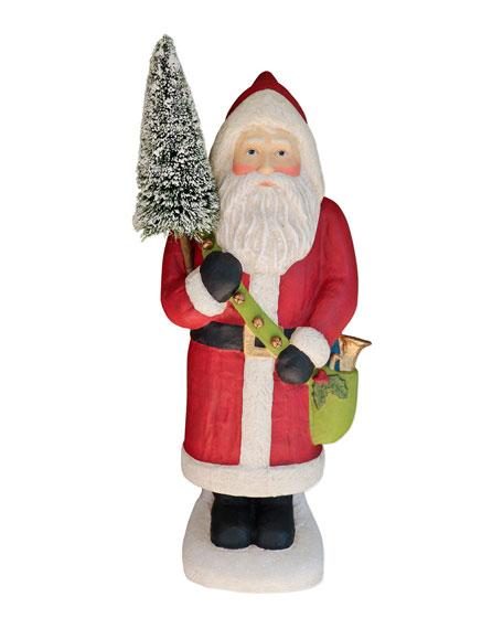 Large Paper Mache Santa Claus