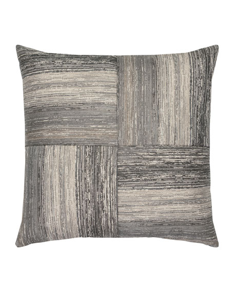 Textured Quadrant Sunbrella Pillow, Gray