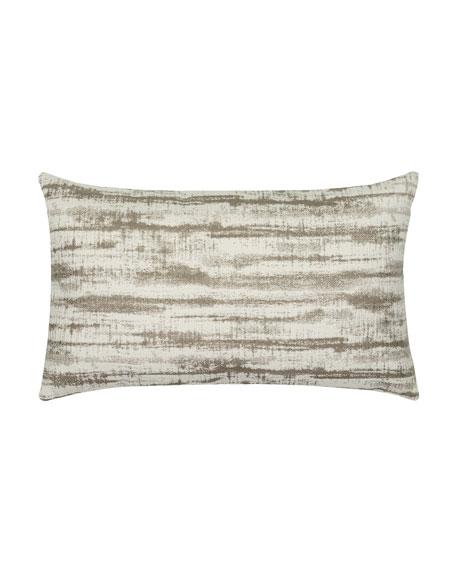 Linear Lumbar Sunbrella Pillow, Taupe