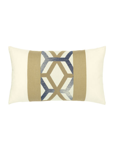 Luminous Lines Lumbar Sunbrella Pillow