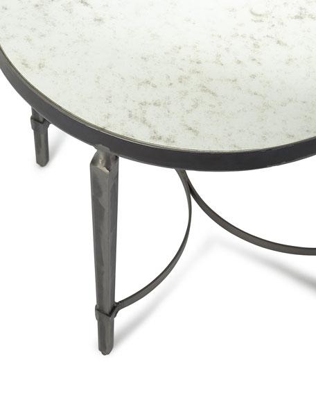 Sahara Antiqued Mirror End Table