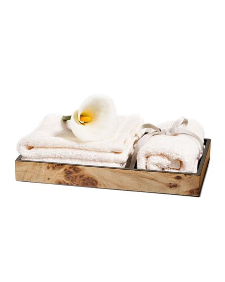 Burl Veneer Bath Tray