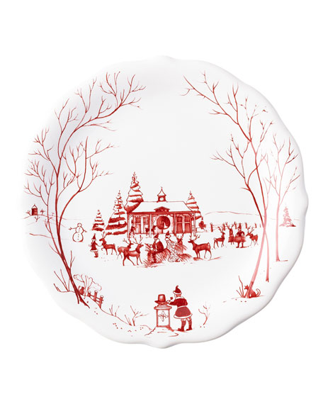 Country Estate Winter Frolic Salad Plates, Set of 4