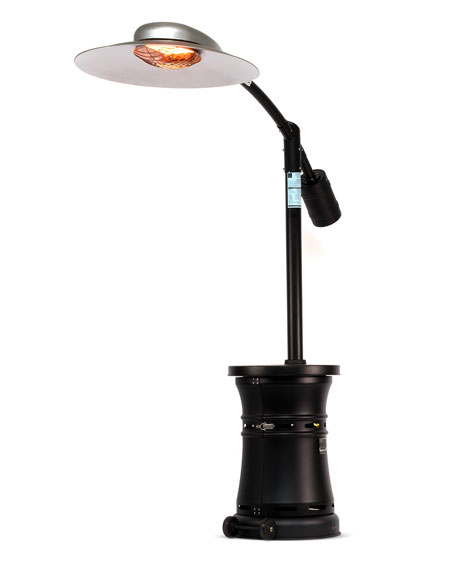 Curve Infrared Patio Heater, Carbon Black