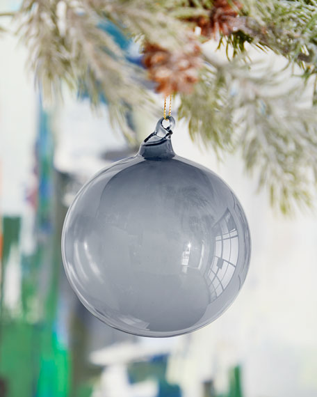 100mm Bubble Gum Glass Ball Ornament