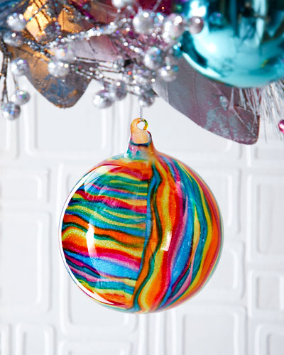 120mm Glitter Glass Ball Ornament