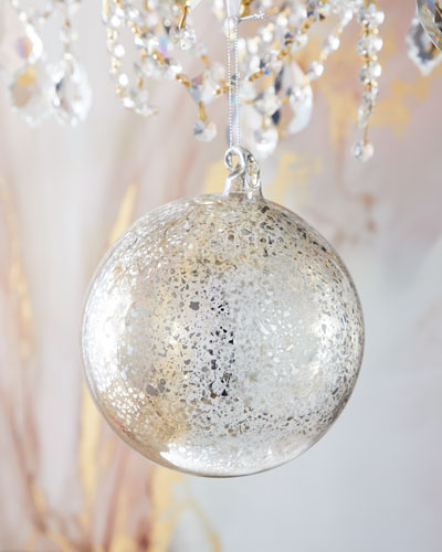 Antique Mercury Ball 150mm Christmas Ornament