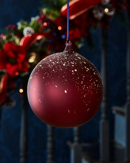 Jim Marvin 150mm Transparent Glass Ball Christmas Ornament