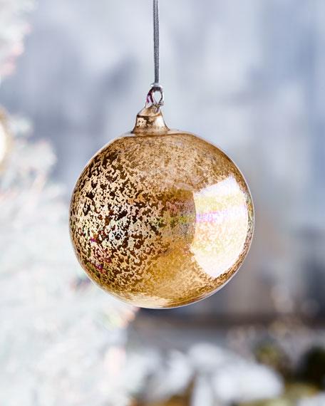 120mm Glitter Murano Glass Ball Ornament