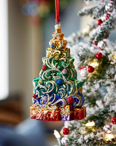 Swirling Christmas Tree Christmas Ornament