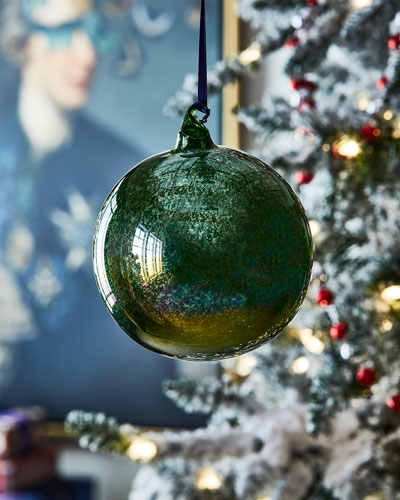 120mm Glitter Murano Glass Ball Ornament