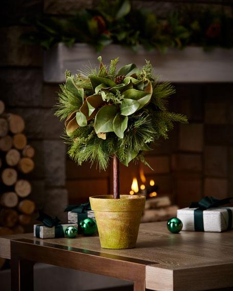 "Magnolia Leaf Topiary, 26"""