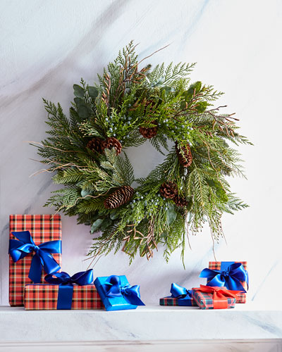 Cedar Pine Mix Christmas Wreath  24