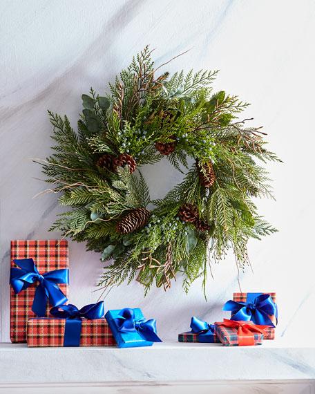 "Cedar Pine Mix Christmas Wreath, 24"""