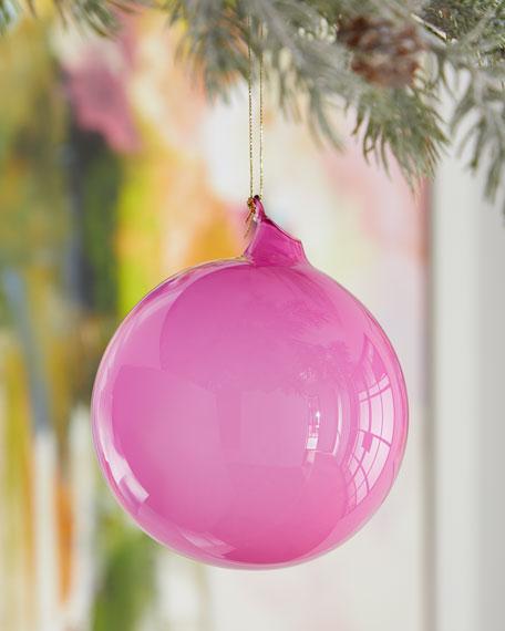 120mm Bubble Gum Glass Ball Ornament