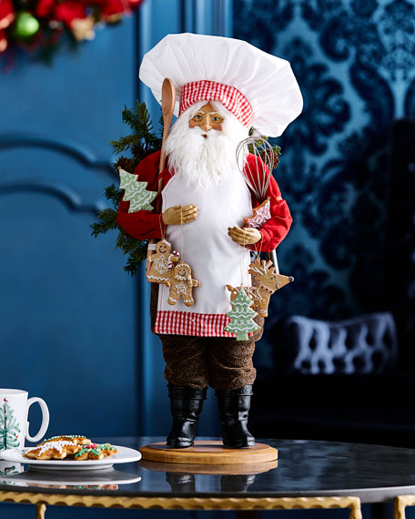Lynn Haney Chef Santa Figure