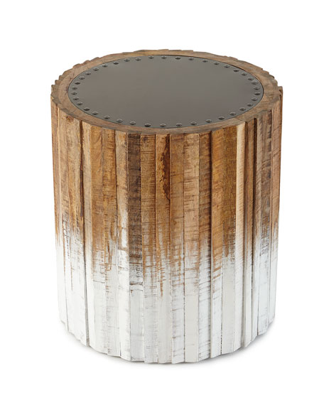 Ombre Wood Stool